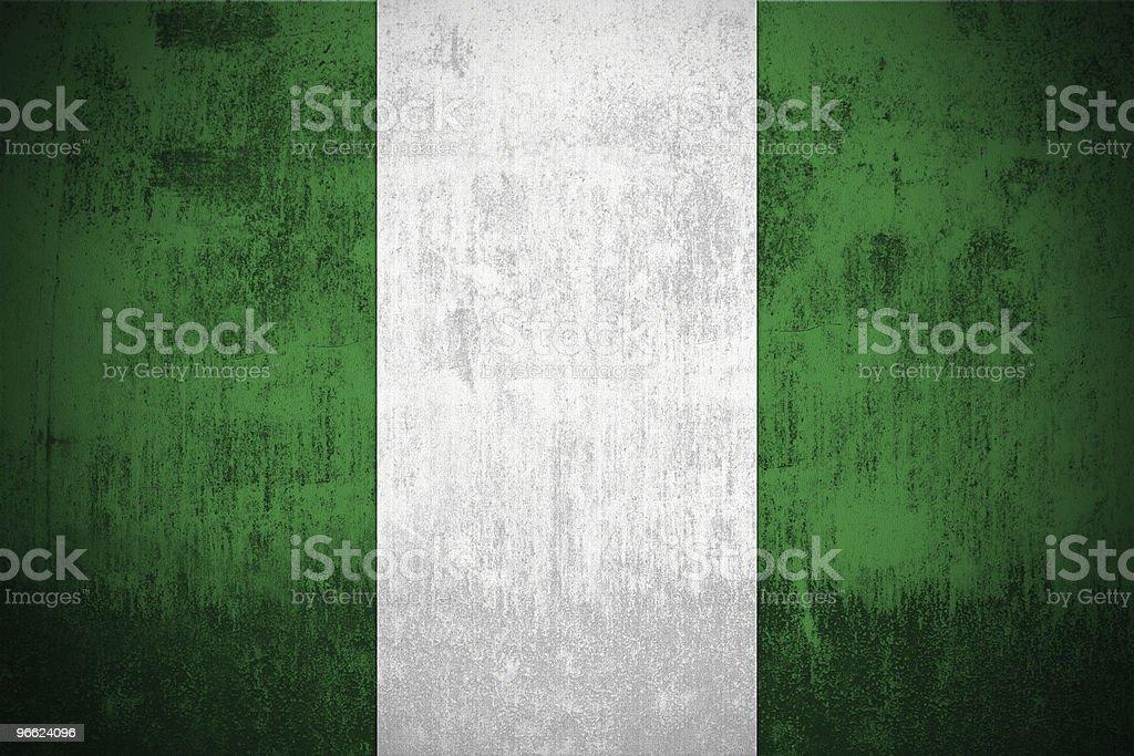 Grunge Flag Of Nigeria royalty-free stock photo