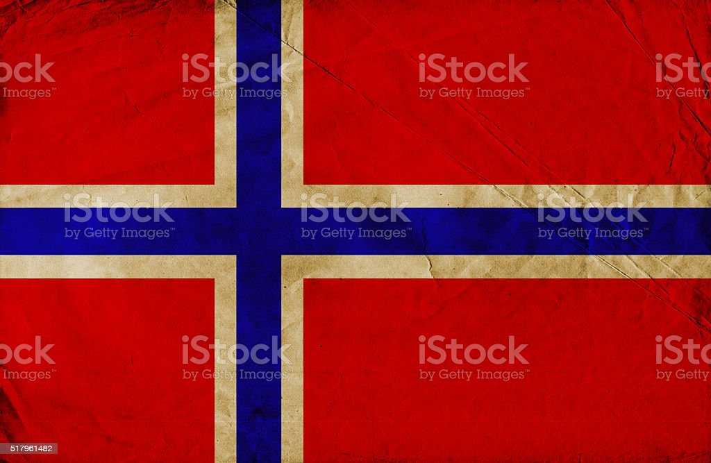 Grunge flag of Norway stock photo
