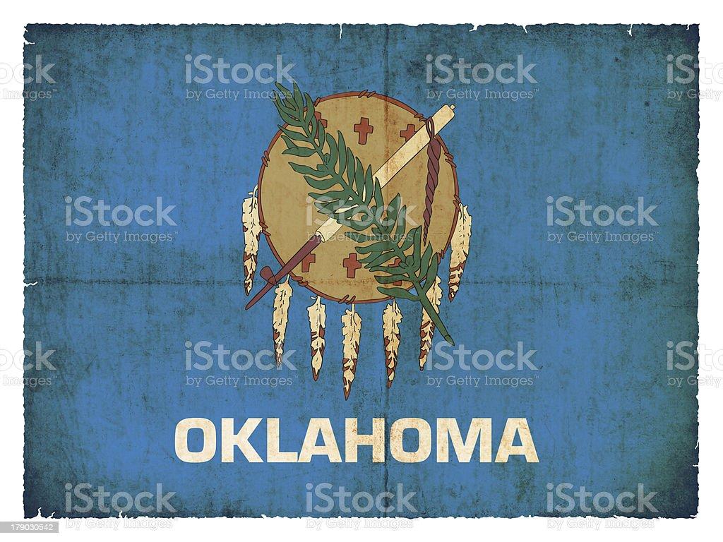 Grunge flag of Oklahoma (USA) royalty-free stock photo