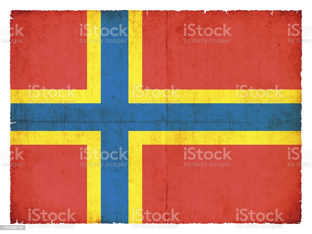 Grunge flag of Orkney Islands (Great Britain) stock photo