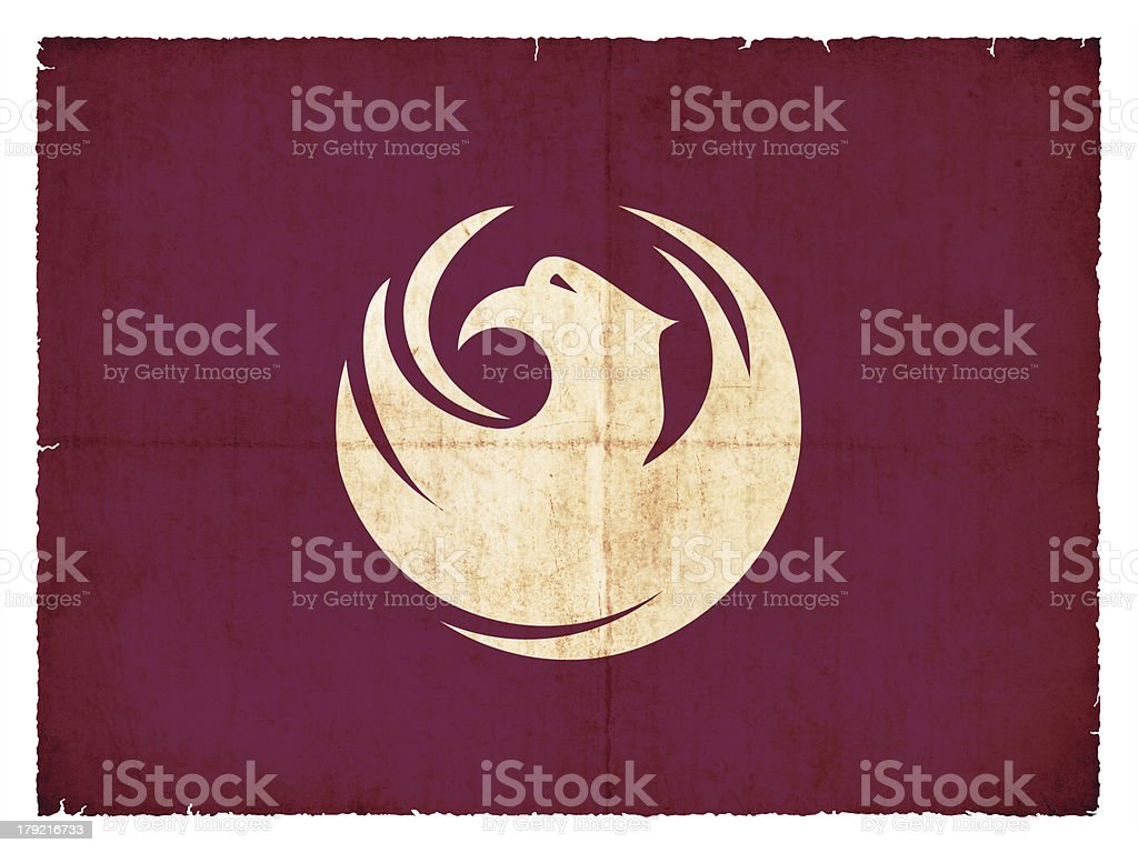 Grunge flag of Phoenix/Arizona (USA) royalty-free stock photo