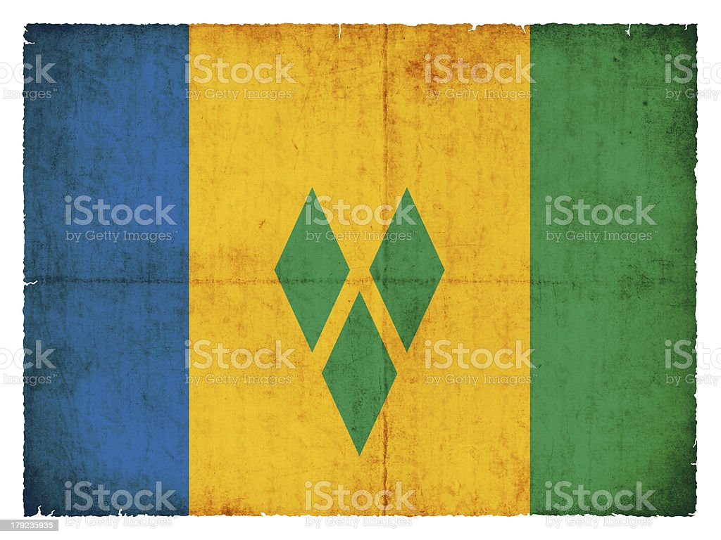 Grunge flag of  Saint Vincent and the Grenadines royalty-free stock photo