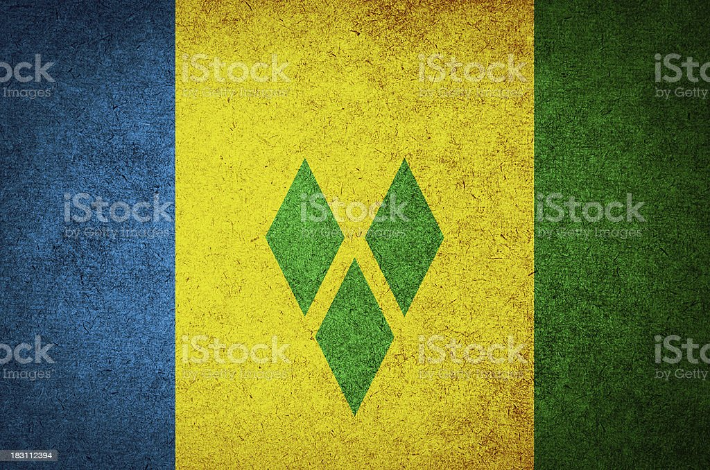 Grunge Flag of Saint Vincent and the Grenadines stock photo