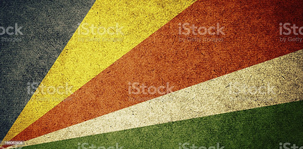 Grunge Flag of Seychelles stock photo