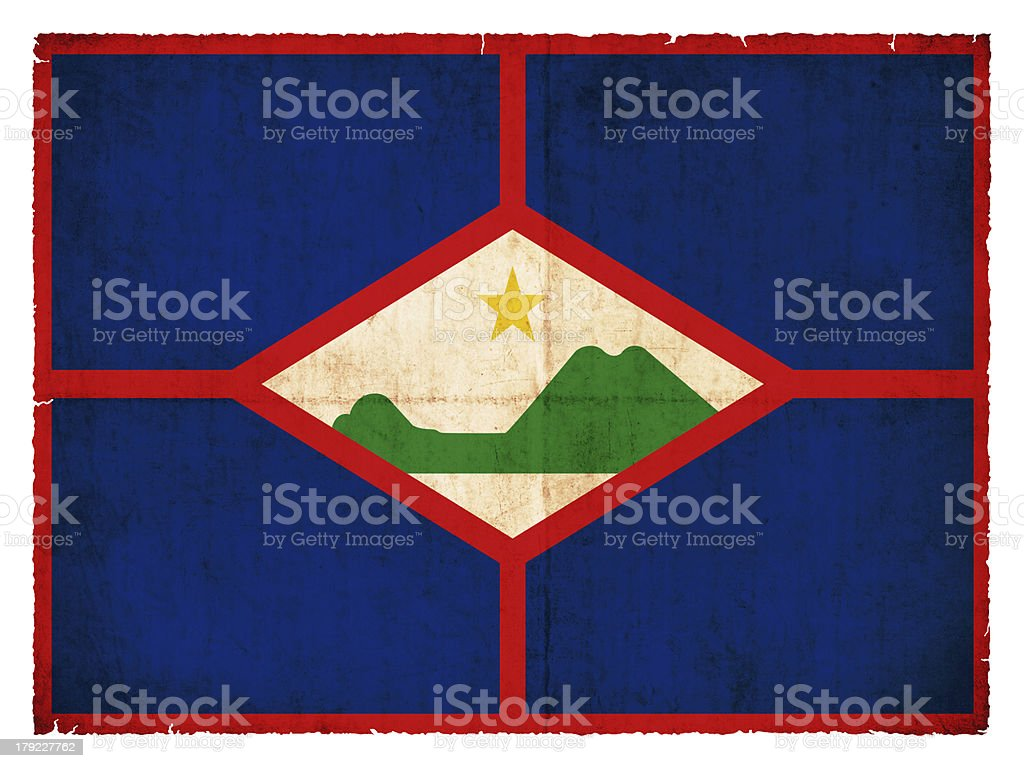 Grunge flag of Sint Eustatius (Netherlands) royalty-free stock photo