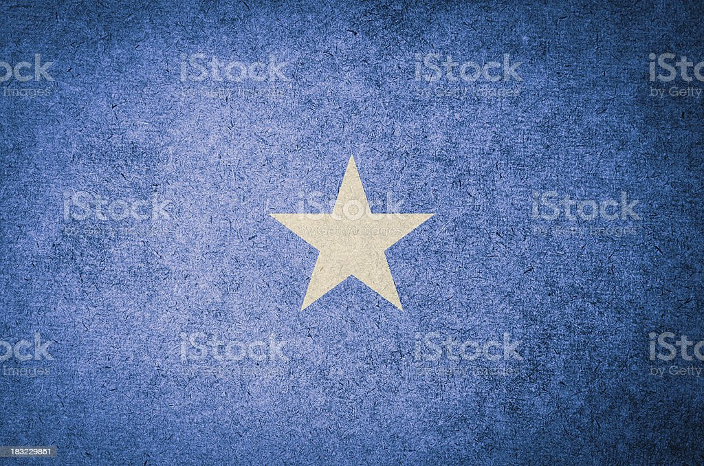 Grunge Flag of Somalia stock photo