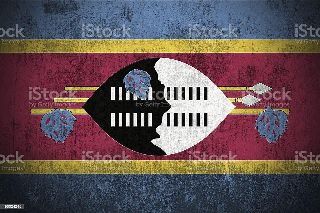 Grunge Flag Of Swaziland royalty-free stock photo