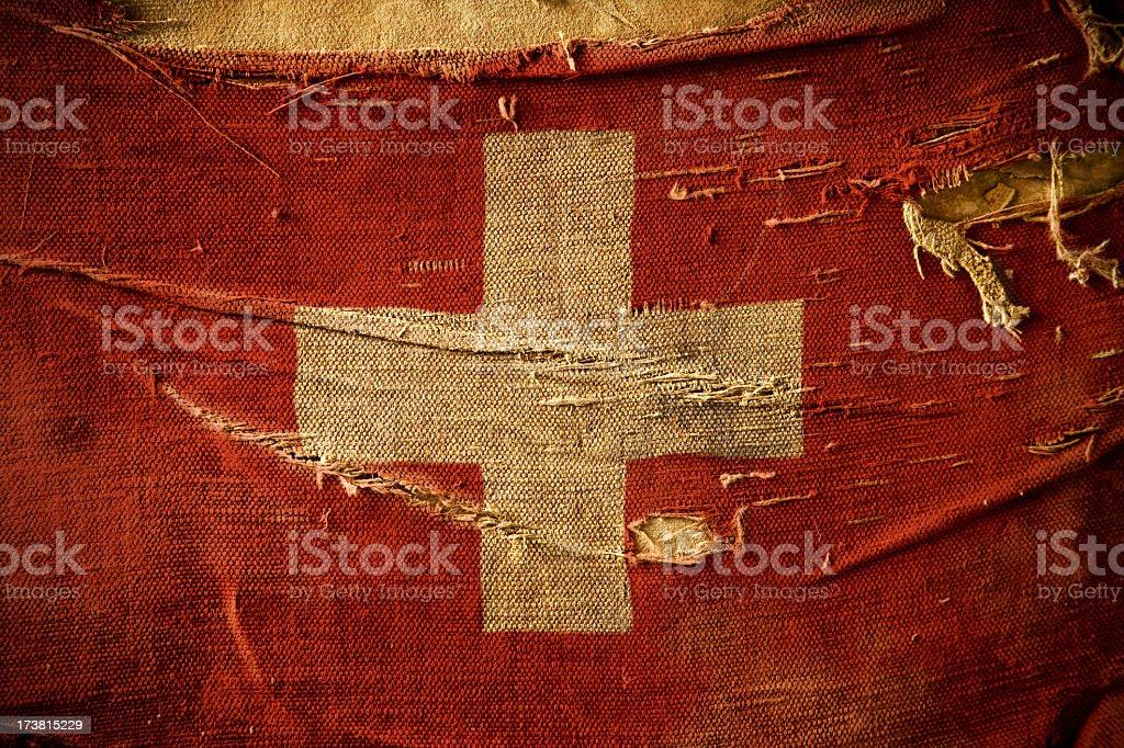 Grunge Flag of Switzerland royalty-free stock photo