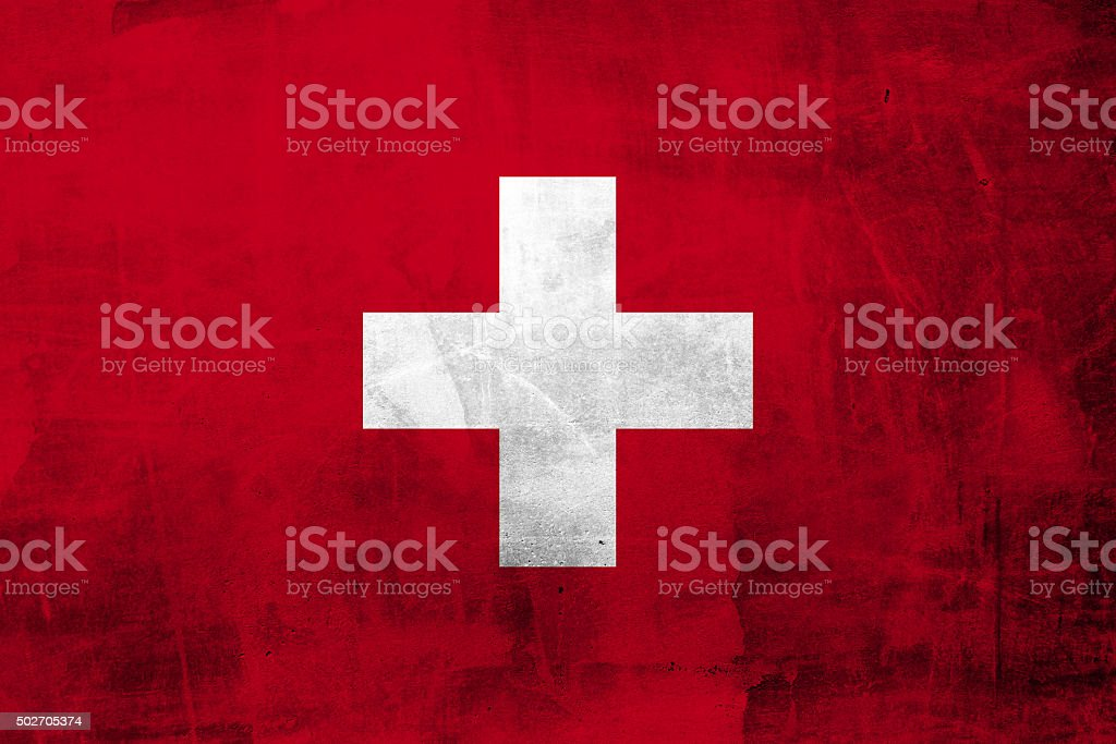 Grunge Flag of Switzerland stock photo
