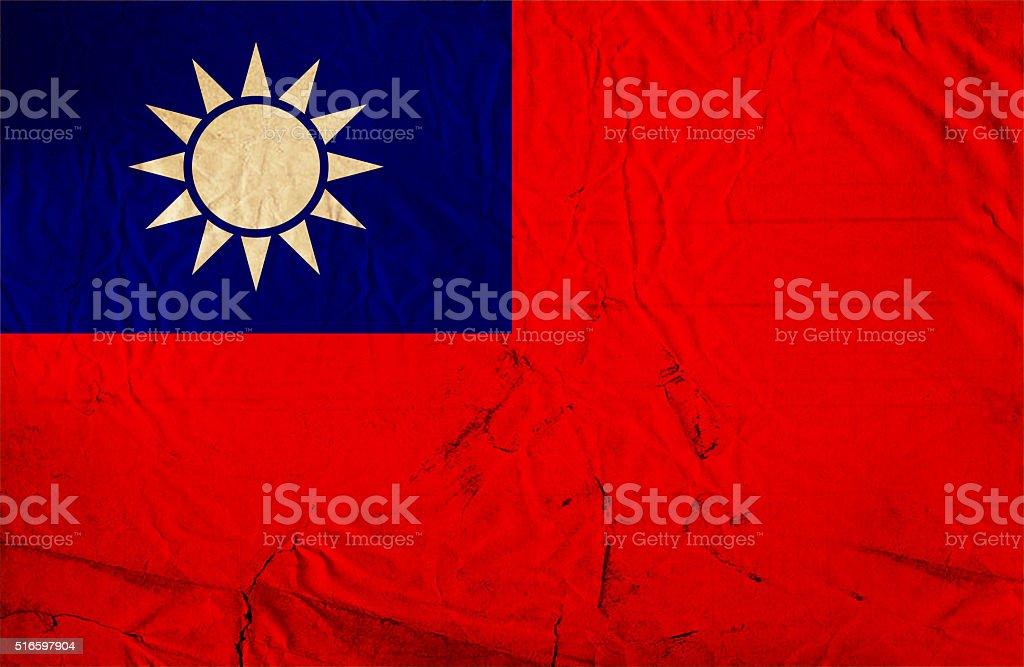 Grunge flag of Taiwan stock photo