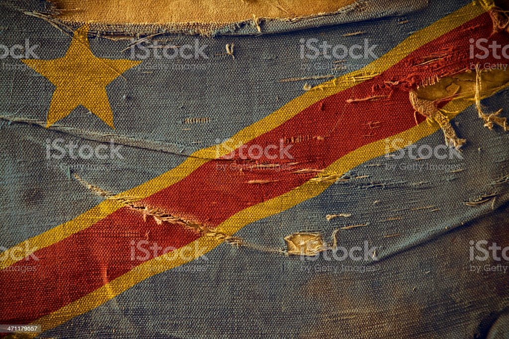 Grunge Flag of the Democratic Republic Congo stock photo