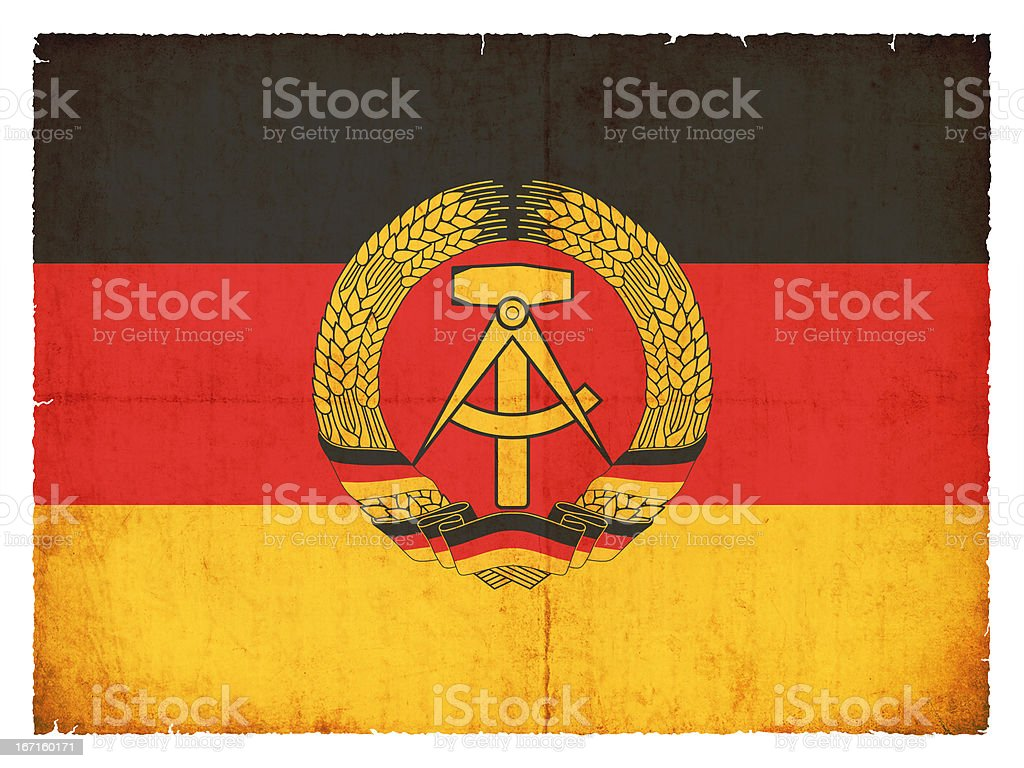 Grunge flag of the German Democratic Republic (DDR) stock photo