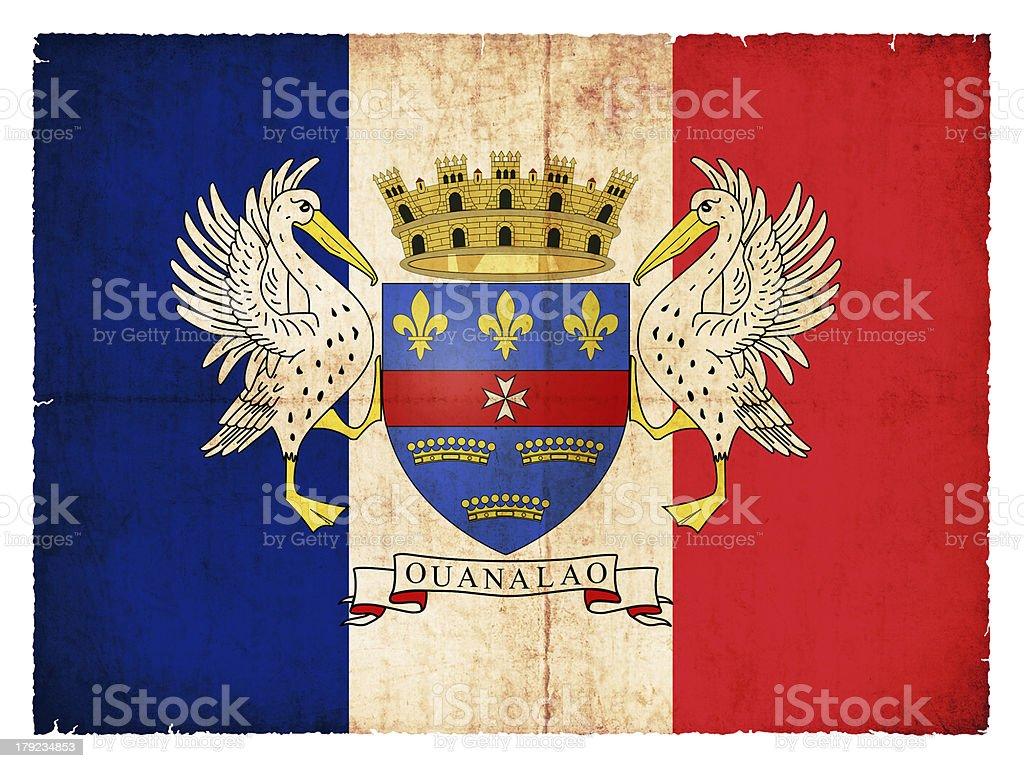 Grunge flag of  the island Saint Barthelemy royalty-free stock photo