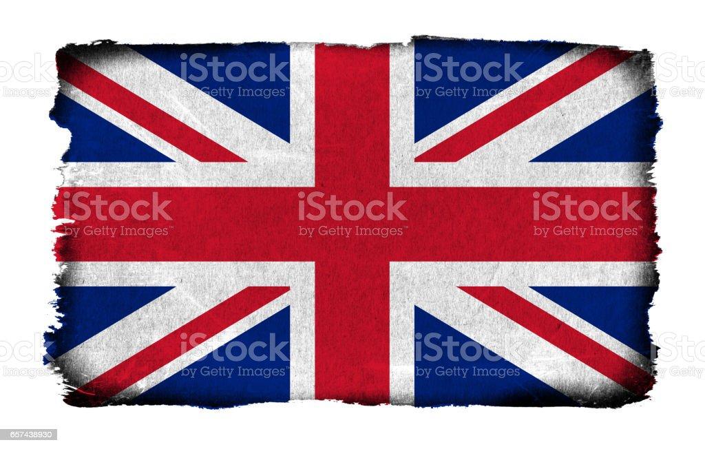 Grunge flag of the United Kingdom background isolated stock photo