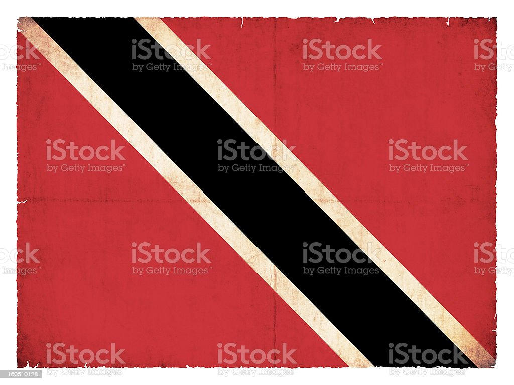 Grunge flag of Trinidad and Tobago royalty-free stock photo