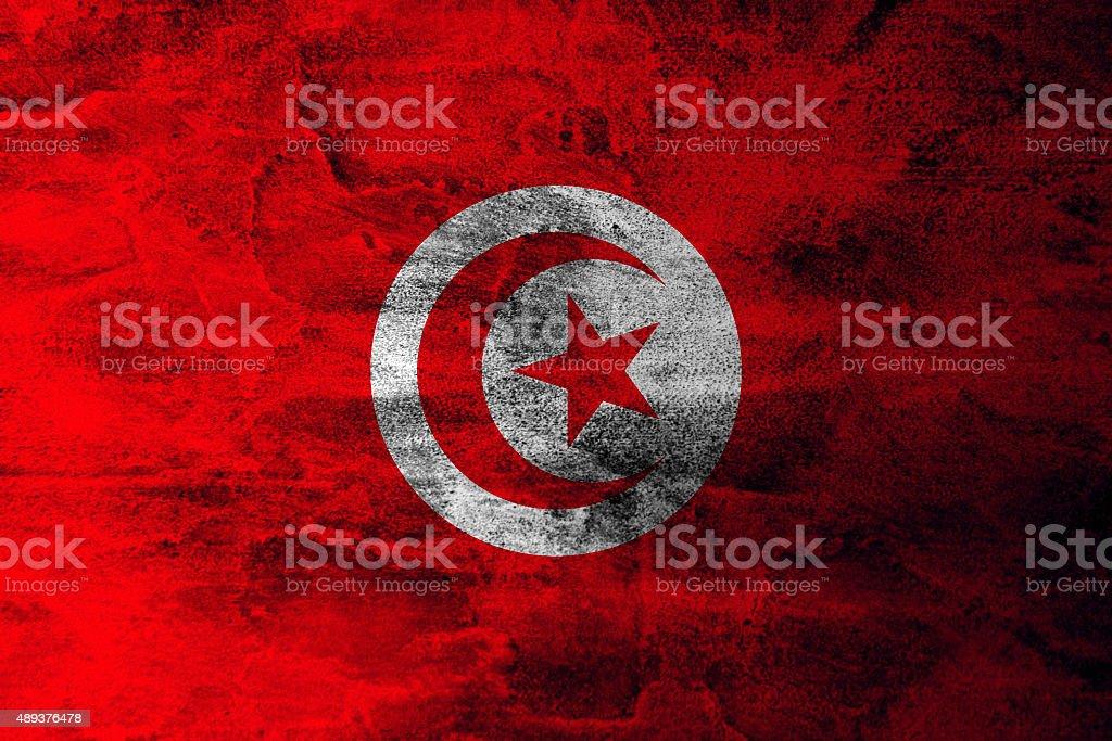 Grunge flag of Tunisia stock photo