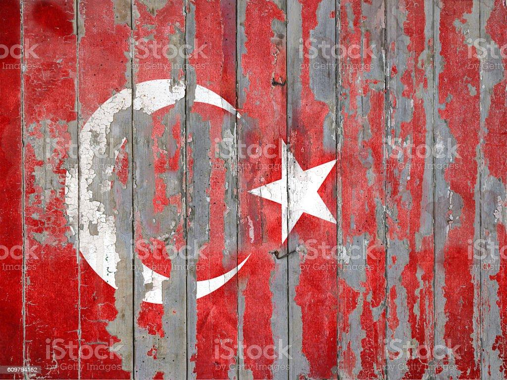 Grunge Flag of Turkey stock photo