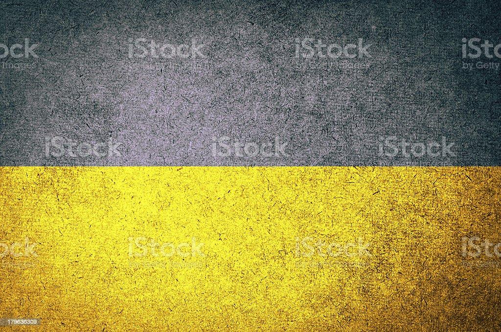 Grunge Flag of Ukraine royalty-free stock photo