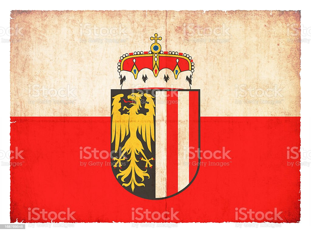 Grunge flag of Upper Austria (Austria) royalty-free stock photo