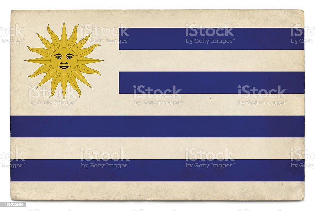 Grunge flag of Uruguay on white stock photo