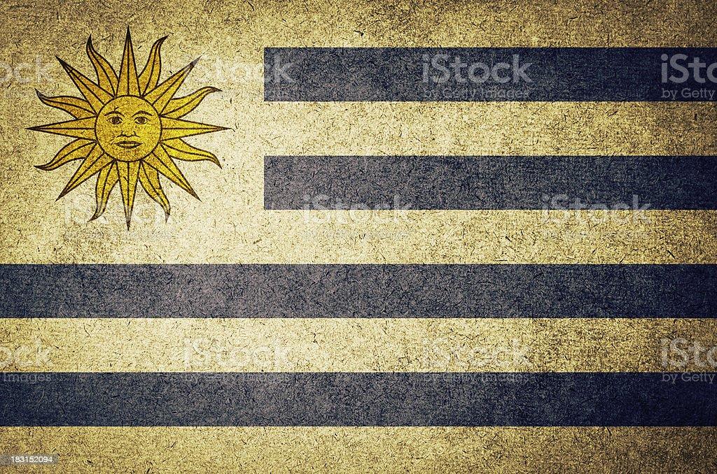 Grunge Flag of Uruguay stock photo