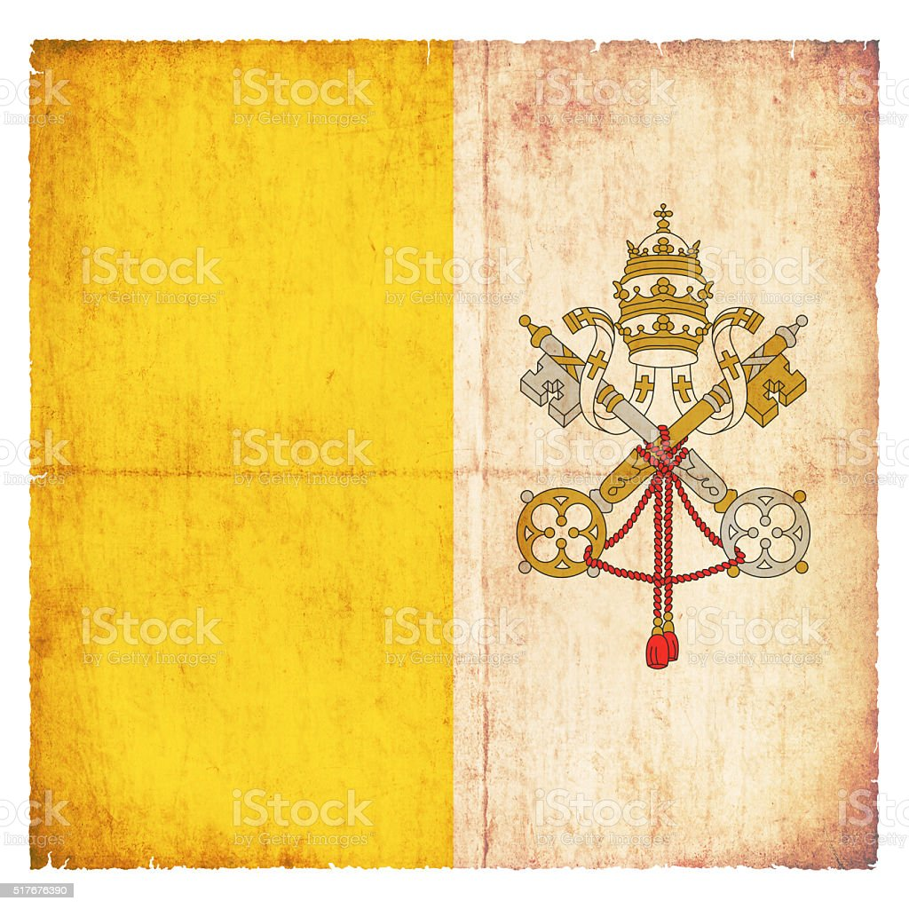 Grunge flag of Vatican City stock photo
