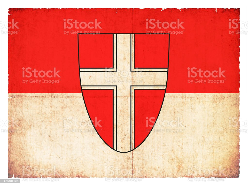 Grunge flag of Vienna (Austria) royalty-free stock photo