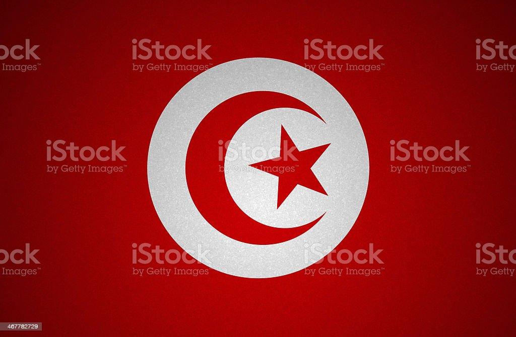 Grunge flag series - Tunisia stock photo