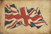 UK Grunge Flag Textured Background Wallpaper