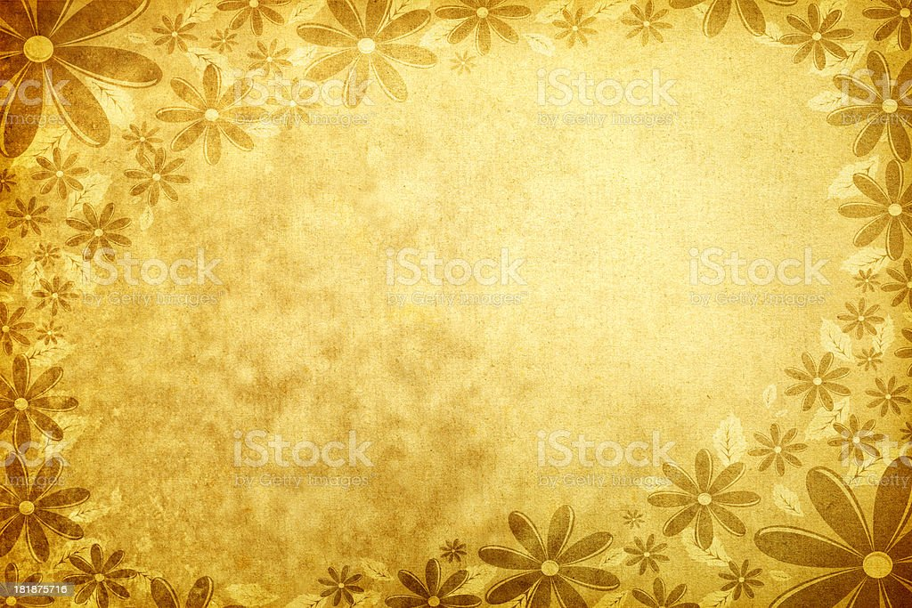 Grunge Floral Background Frame royalty-free stock photo