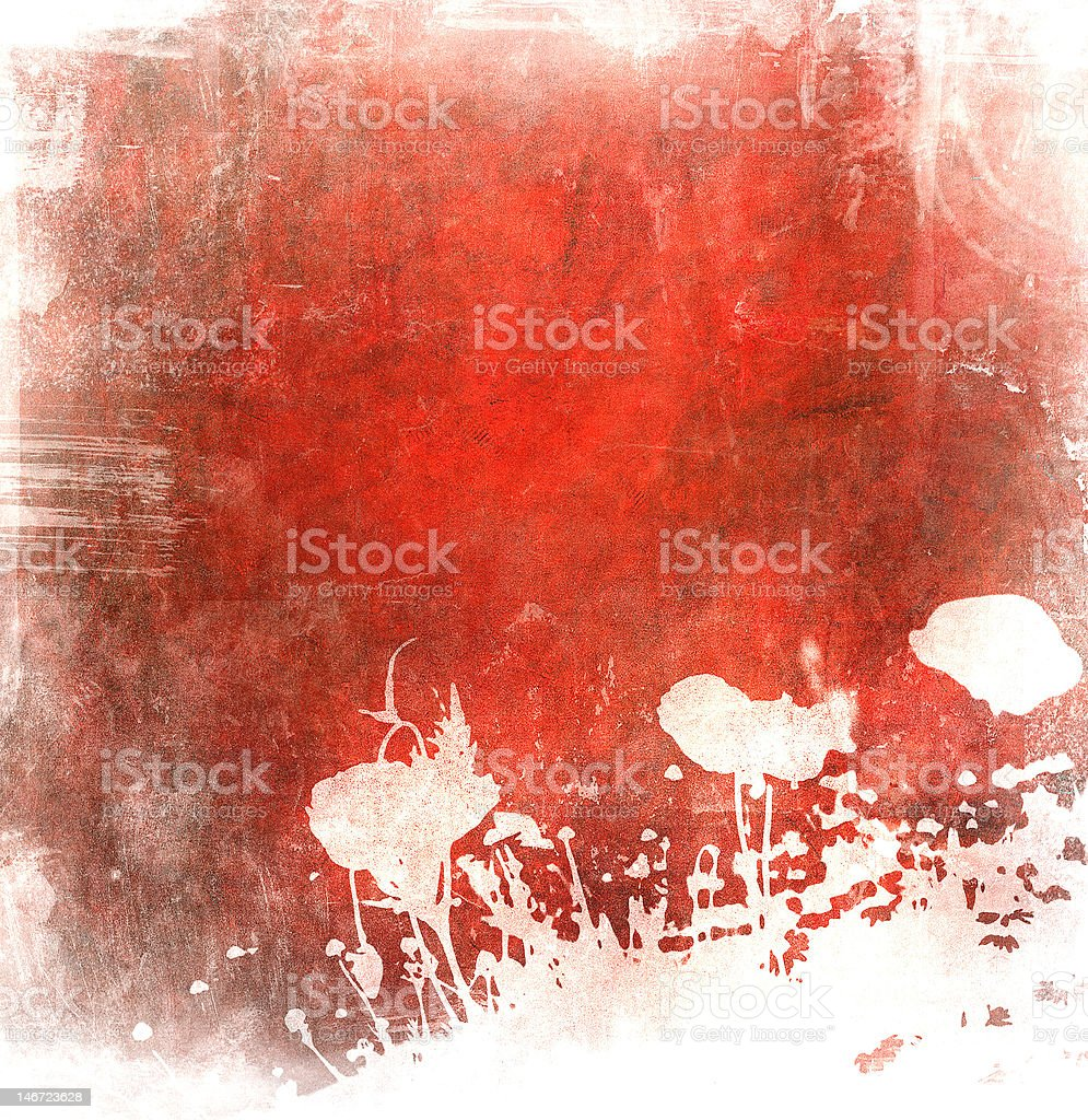 grunge floral background with space for text or image royalty-free stock vector art