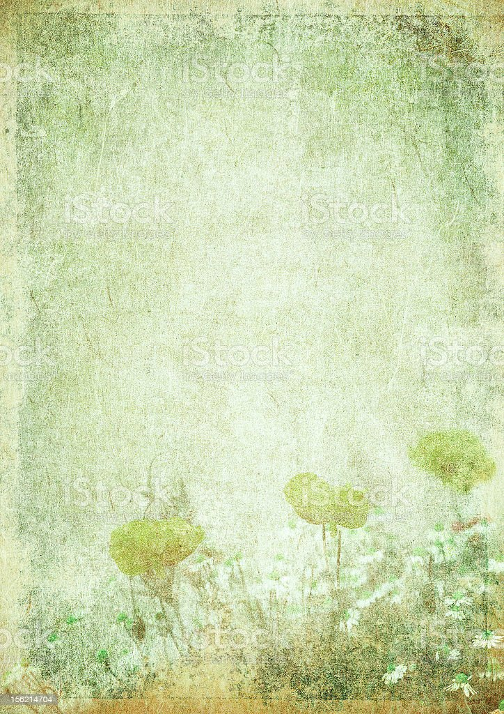 grunge floral background with space for text or image vector art illustration