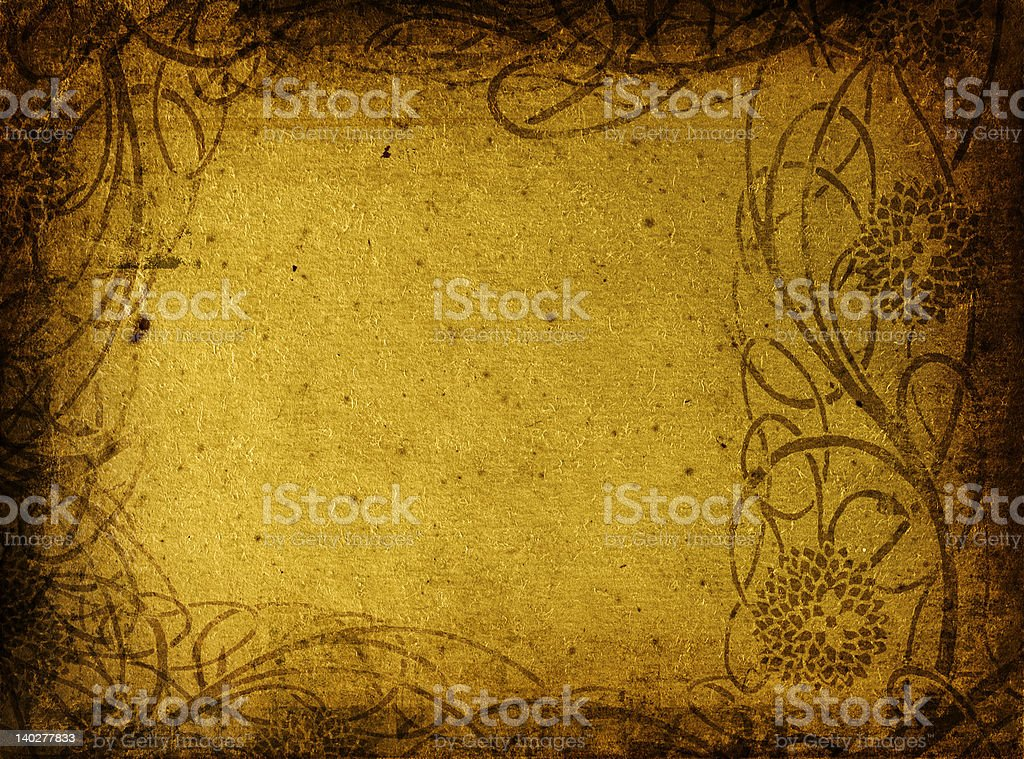 grunge floral background with space for text royalty-free stock photo