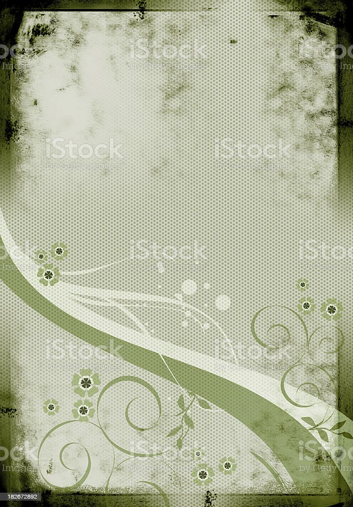 Grunge Floral Ornament royalty-free stock photo