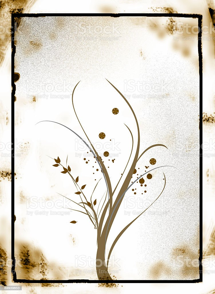 Grunge Floral Ornament stock photo