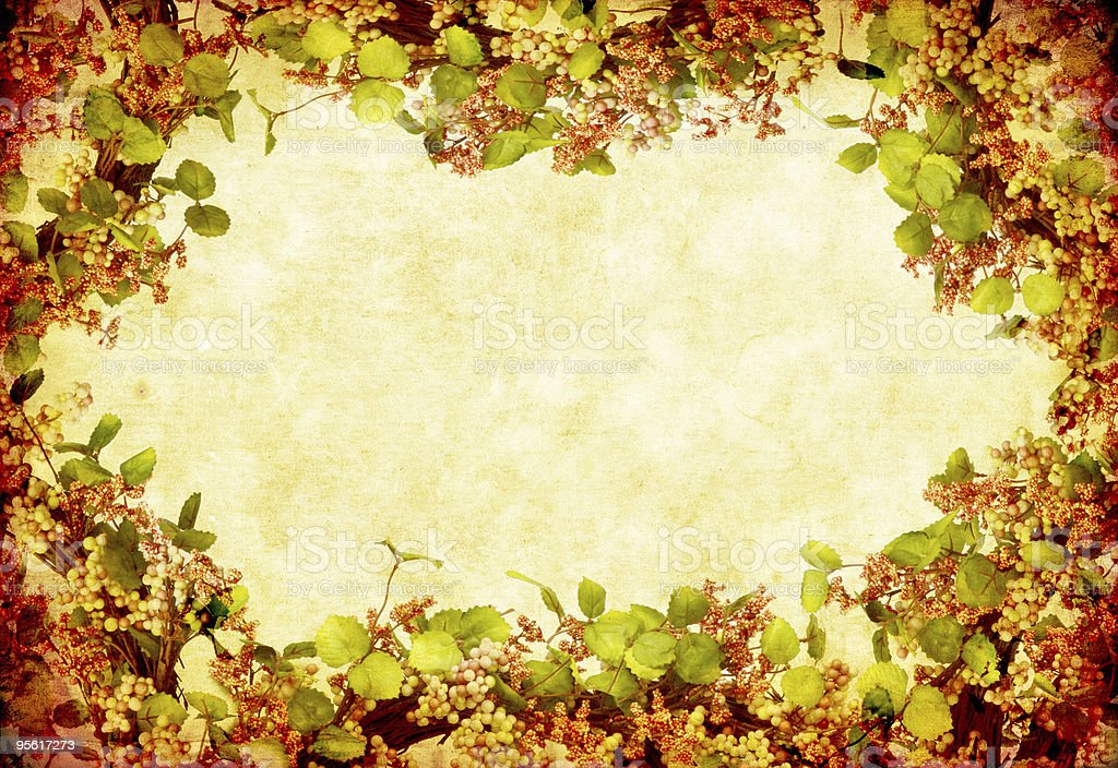 Grunge Floral Wreath royalty-free stock photo