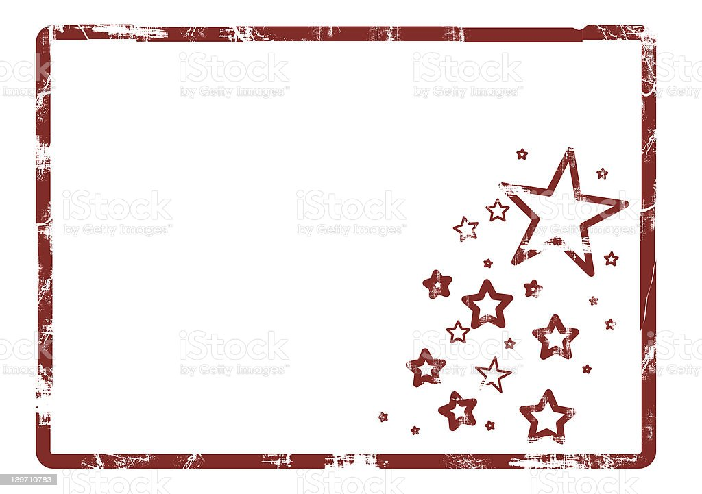 Grunge frame and stars royalty-free stock photo
