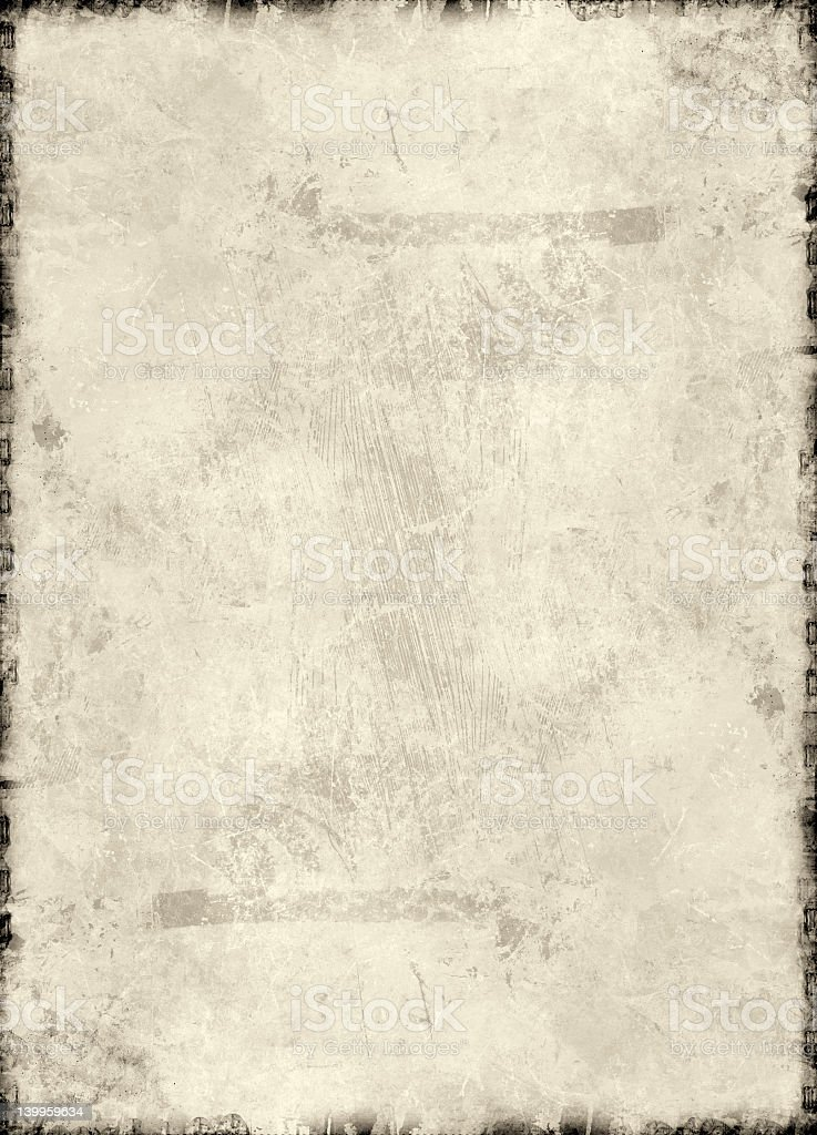 Grunge frame around a paper-like pattern royalty-free stock photo