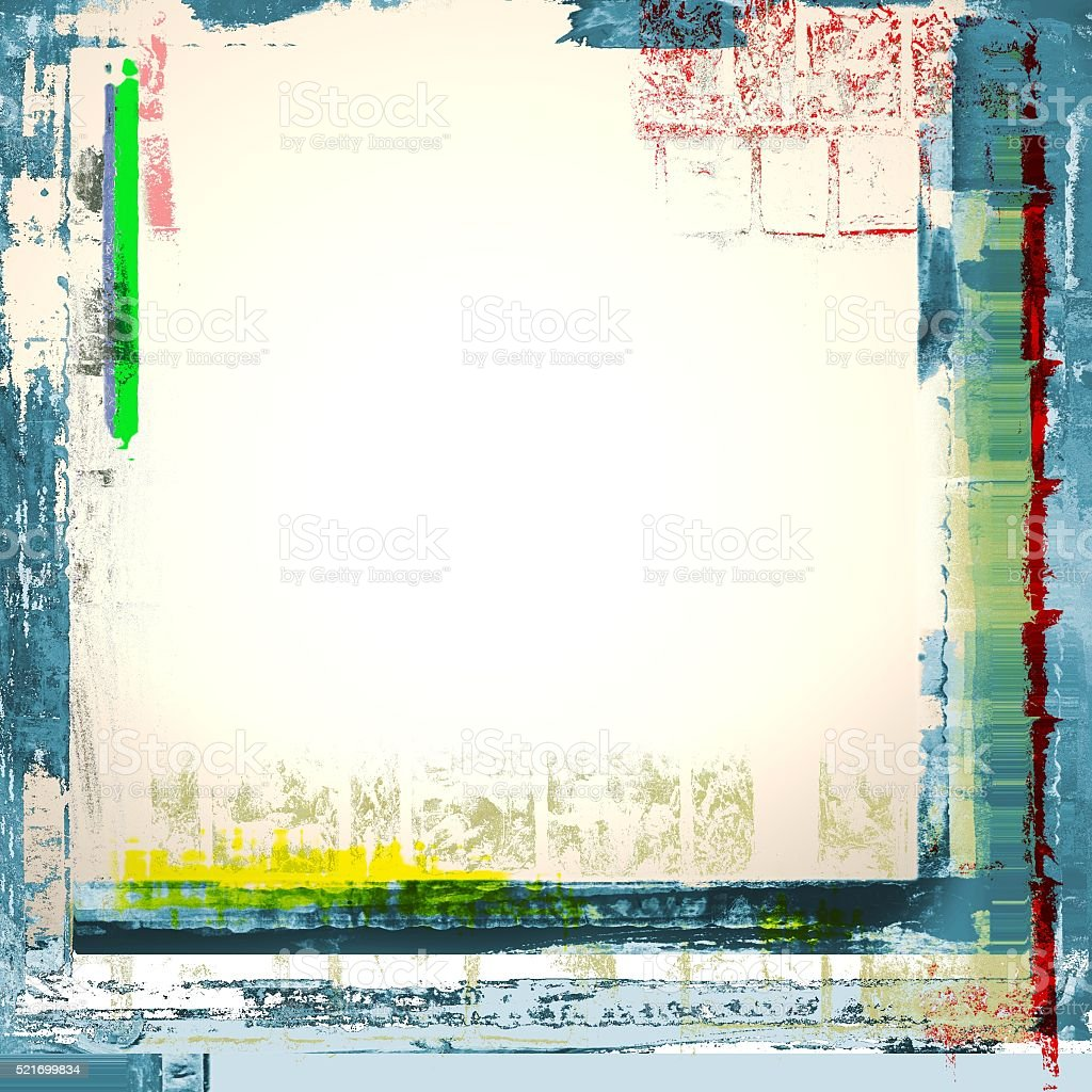Grunge frame texture background. White, blue and green. stock photo