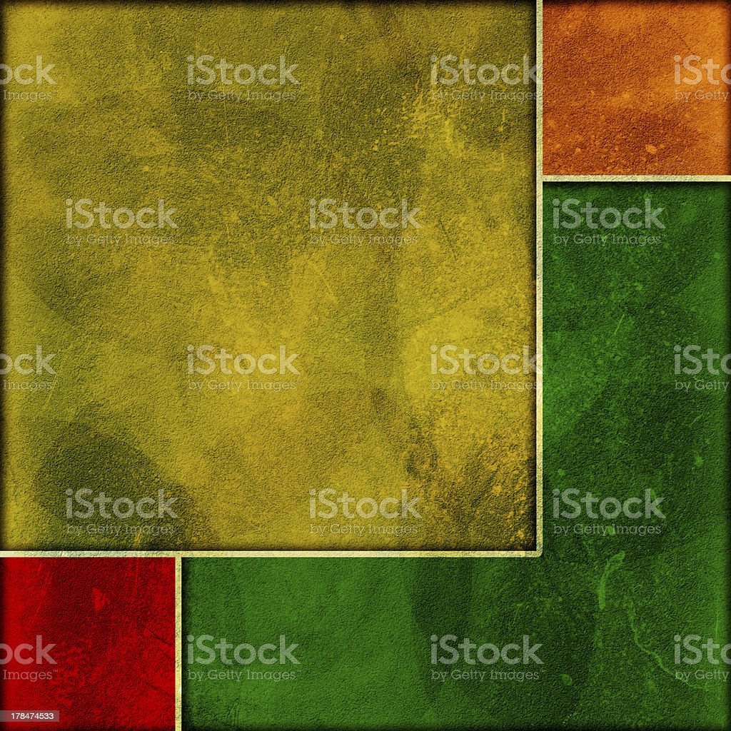 Grunge frame with a colorful background royalty-free stock photo