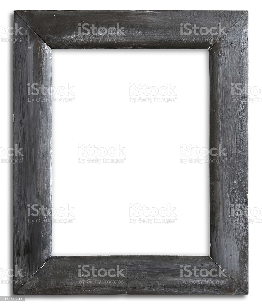 Grunge frame with clipping path stock photo