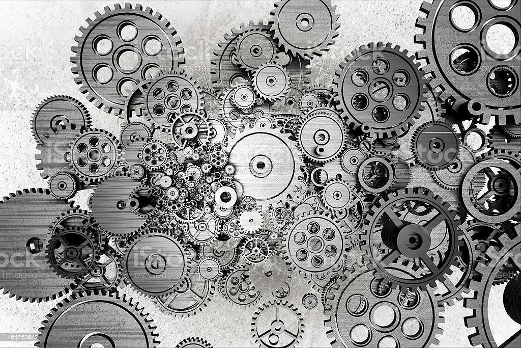 Grunge Gears Background stock photo