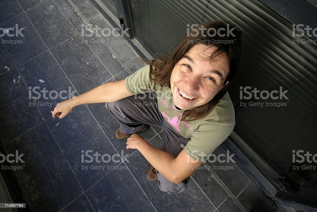 Grunge girl stock photo