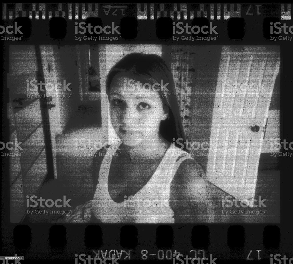 grunge girl stock photo