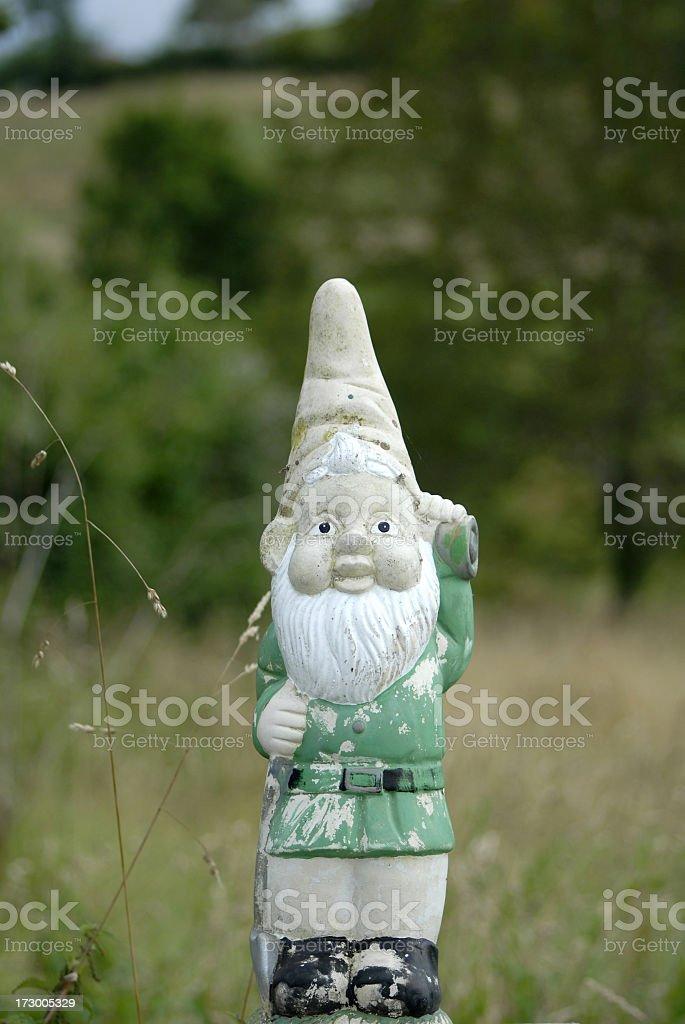 Grunge gnome stock photo