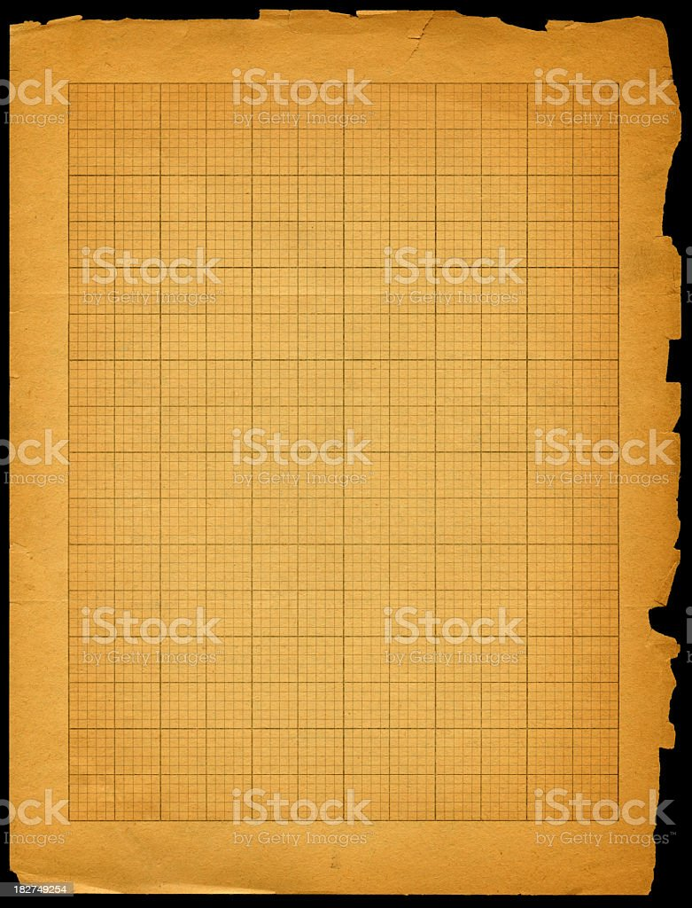 grunge graph paper royalty-free stock photo
