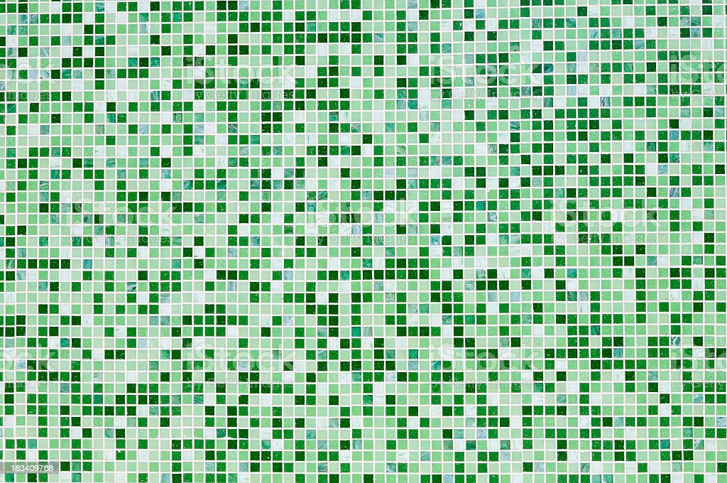 Grunge Green Mosaic Wall Texture Background Pattern royalty-free stock photo