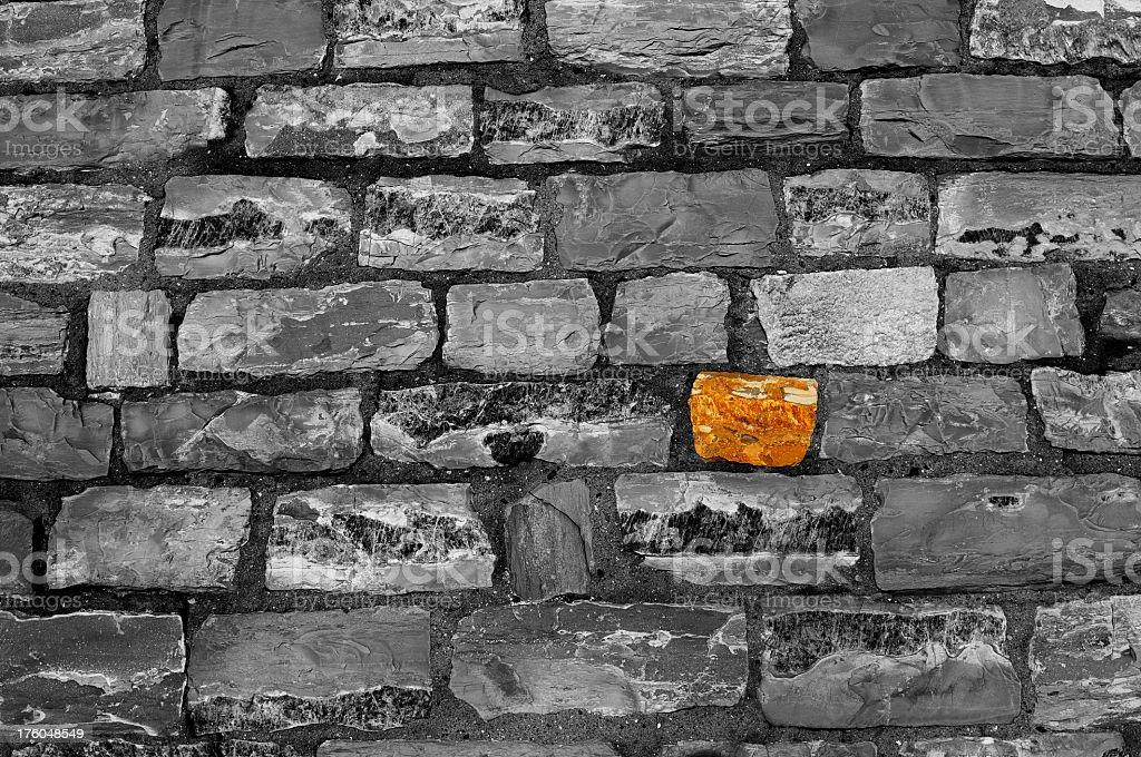 Grunge Grey Tuscan Stone Wall Texture Background Pattern royalty-free stock photo