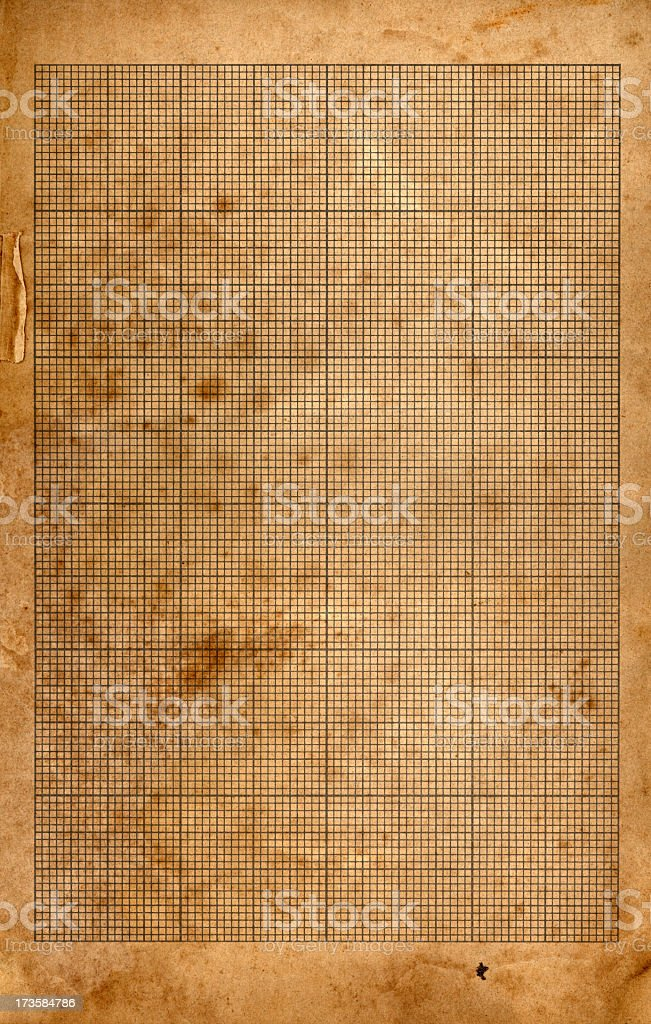 Grunge grid paper royalty-free stock photo
