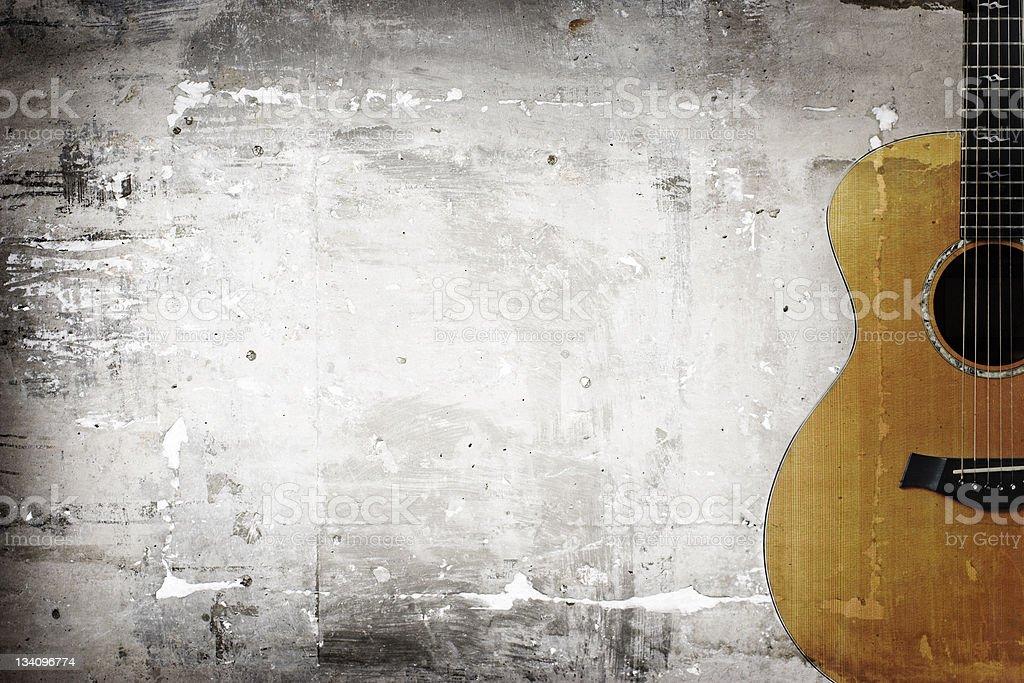Grunge guitar stock photo